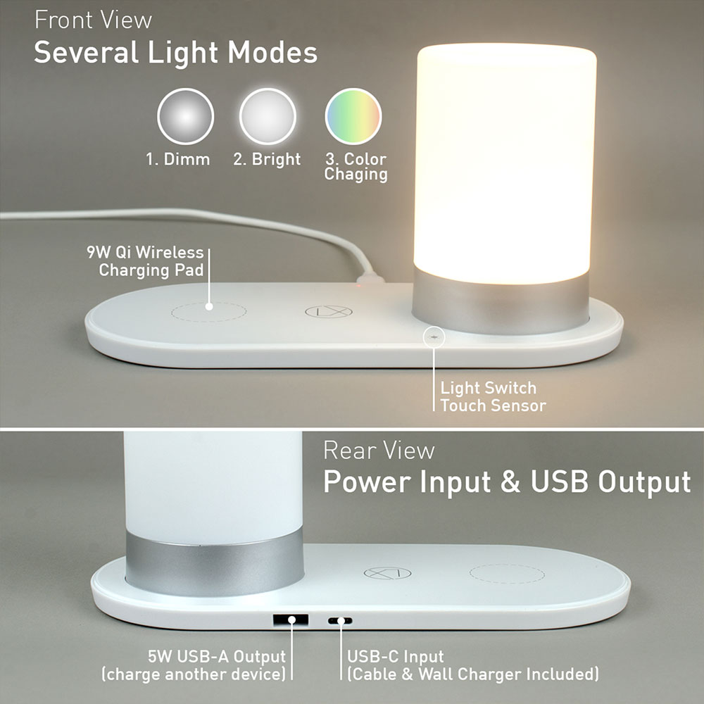 lxory qi LED lamp
